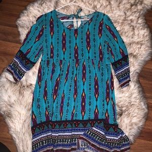 Colorful loose fitting long shirt